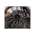 Wagon Wheels Throw Blanket