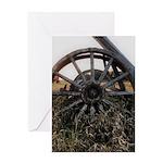 Wagon Wheels Greeting Cards