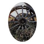 Wagon Wheels Oval Ornament