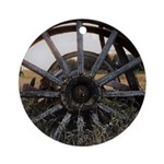 Wagon Wheels Round Ornament