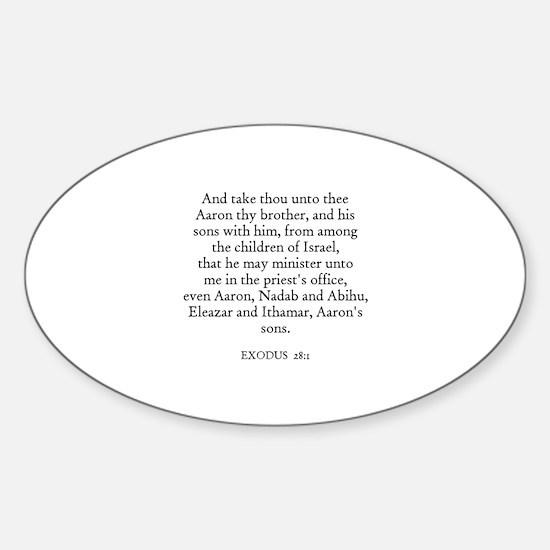 EXODUS 28:1 Oval Decal