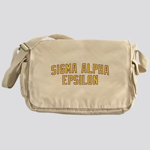 Sigma Alpha Epsilon Gold Messenger Bag