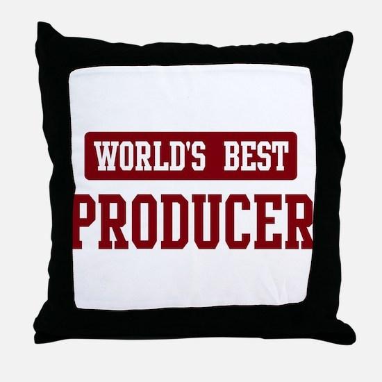 Worlds best Producer Throw Pillow