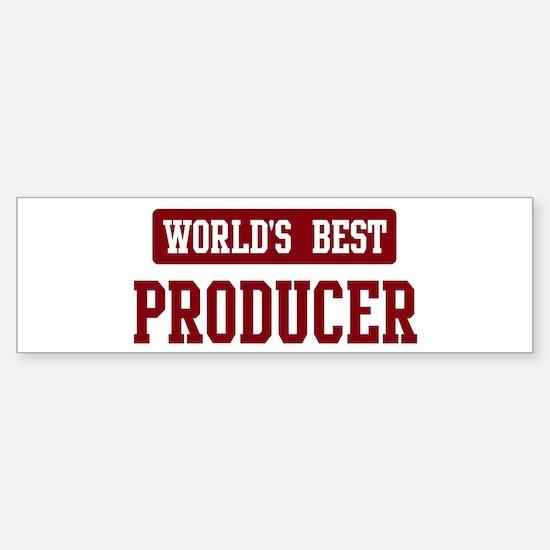 Worlds best Producer Bumper Bumper Bumper Sticker