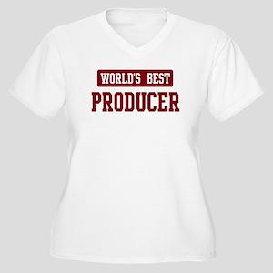 Worlds best Producer Women's Plus Size V-Neck T-Sh
