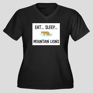 Eat ... Sleep ... MOUNTAIN LIONS Women's Plus Size