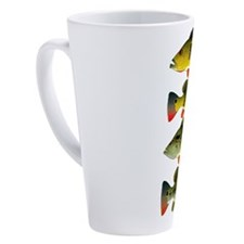 4 Peacock Bass 17 oz Latte Mug