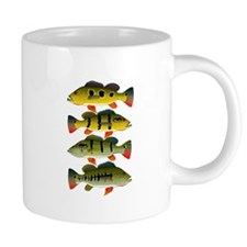 4 Peacock Bass Mugs