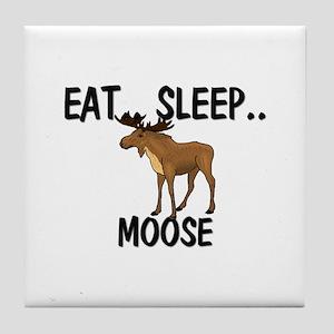 Eat ... Sleep ... MOOSE Tile Coaster