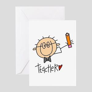 Male Teacher Greeting Card