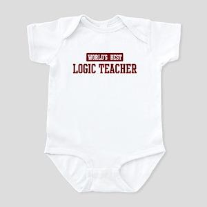 Worlds best Logic Teacher Infant Bodysuit