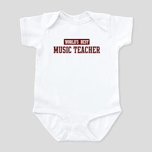 Worlds best Music Teacher Infant Bodysuit