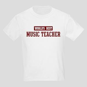 Worlds best Music Teacher Kids Light T-Shirt