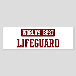 Worlds best Lifeguard Bumper Sticker