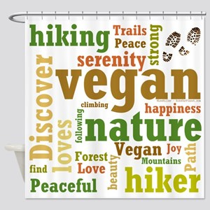 Vegan Hiker Happiness Shower Curtain
