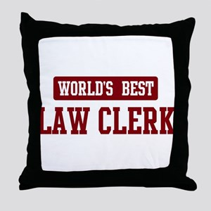 Worlds best Law Clerk Throw Pillow