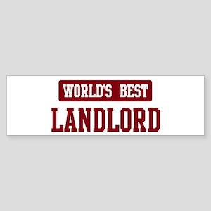 Worlds best Landlord Bumper Sticker