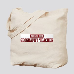 Worlds best Geography Teacher Tote Bag