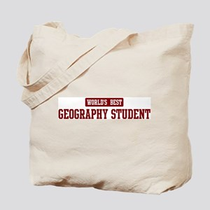 Worlds best Geography Student Tote Bag