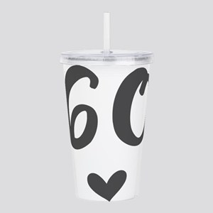 60th Birthday Acrylic Double-wall Tumbler