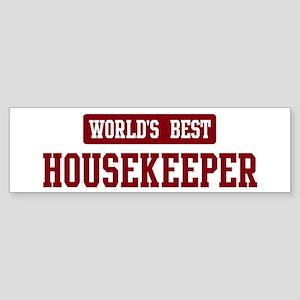 Worlds best Housekeeper Bumper Sticker (10 pk)