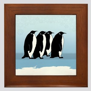 Antarctica Penguins Framed Tile