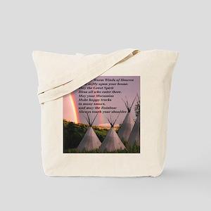 Cherokee Blessing Prayer Tote Bag