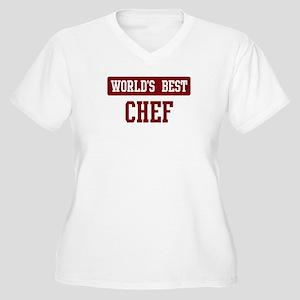 Worlds best Chef Women's Plus Size V-Neck T-Shirt