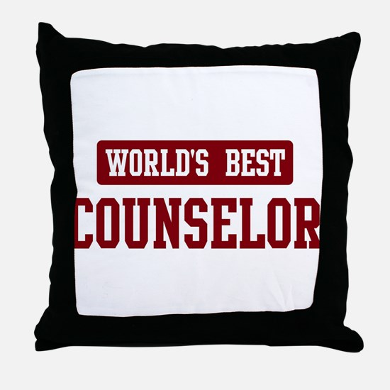 Worlds best Counselor Throw Pillow