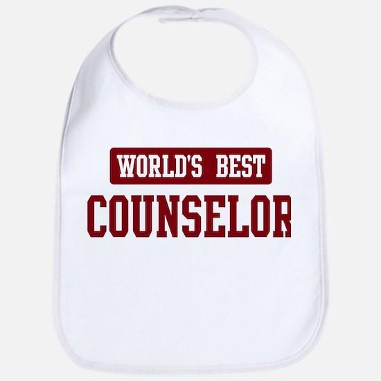 Worlds best Counselor Bib