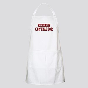 Worlds best Contractor BBQ Apron