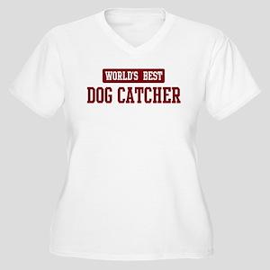 Worlds best Dog Catcher Women's Plus Size V-Neck T