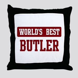 Worlds best Butler Throw Pillow