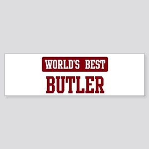Worlds best Butler Bumper Sticker