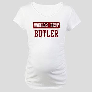 Worlds best Butler Maternity T-Shirt