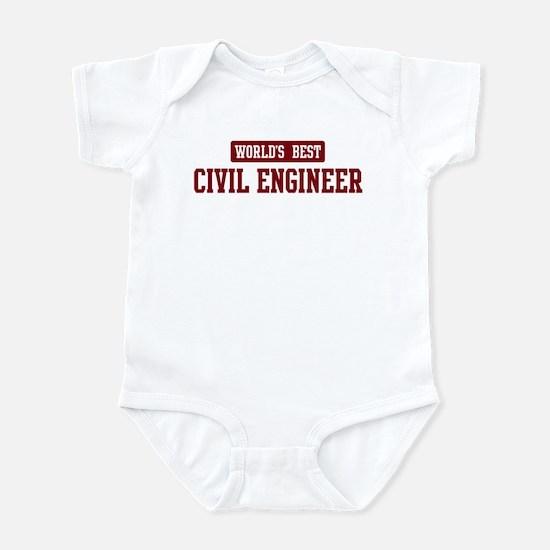 Worlds best Civil Engineer Infant Bodysuit