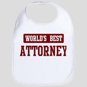 Worlds best Attorney Bib