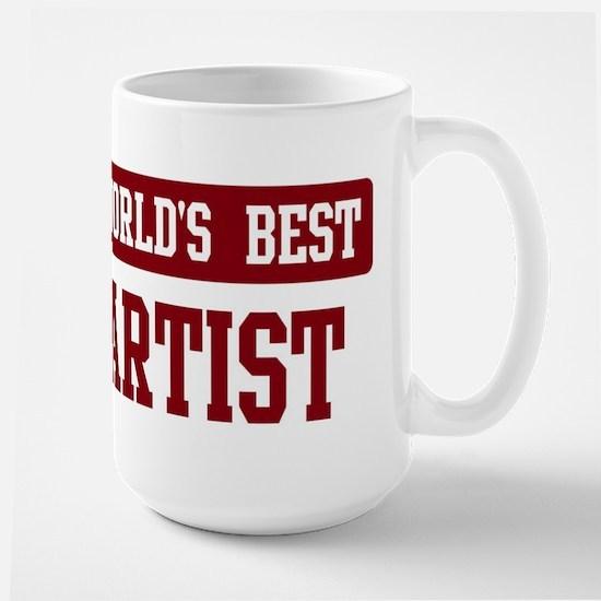 Worlds best Artist Large Mug