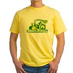 Dirt Farm Tractor Yellow T-Shirt