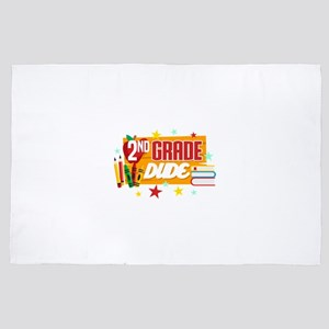 Second Grade Back To School T-Shirt &q 4' x 6' Rug