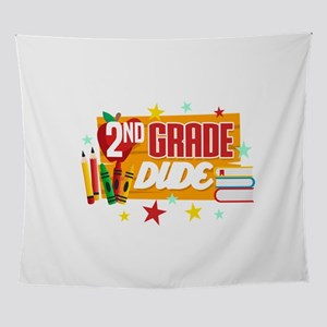 Second Grade Back To School T-Shirt Wall Tapestry