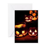 Halloween Tricks and Treats Greeting Card