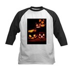 Halloween Tricks and Treats Kids Baseball Jersey