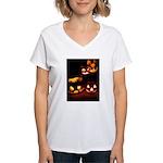 Halloween Tricks and Treats Women's V-Neck T-Shirt