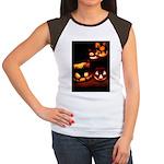 Halloween Tricks and Treats Women's Cap Sleeve T-S