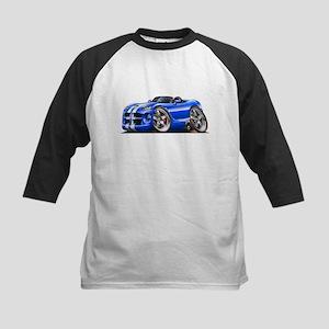 Viper Roadster Blue/White Car Kids Baseball Jersey