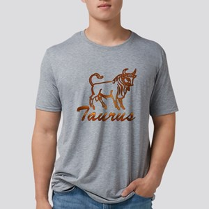 Bronze Taurus Mens Tri-blend T-Shirt