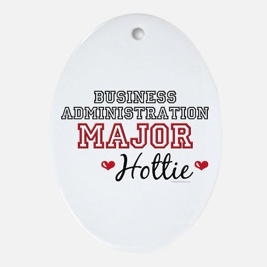 Business Admin Major Hottie Oval Ornament