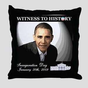 Obama Over WhiteHouse Throw Pillow