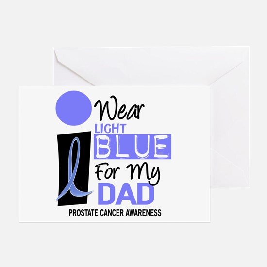 I Wear Light Blue For My Dad 9 Greeting Card